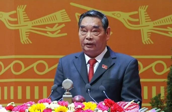 Ủy viên Bộ Chính trị, Thường trực Ban Bí thư Khóa XI Lê Hồng Anh đọc Báo cáo kiểm điểm sự lãnh đạo, chỉ đạo của Ban Chấp hành Trung ương Đảng khoá XI - Ảnh chụp qua màn hình