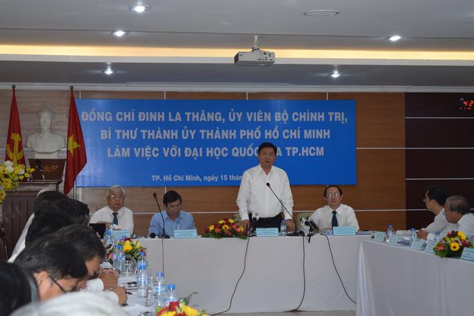 Bí thư Thành ủy TP HCM làm việc với ĐHQG TP HCM vào chiều ngày 15-3