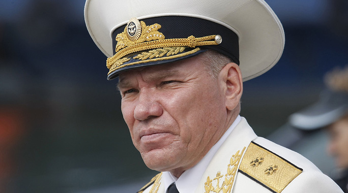Chuẩn đô đốc Viktor Kravchuk, cựu chỉ huy Hạm đội Baltic. Ảnh: Sputnik