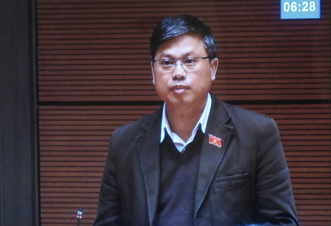 Đại biểu Quốc hội Nguyễn Sỹ Cương - Ảnh chụp qua màn hình