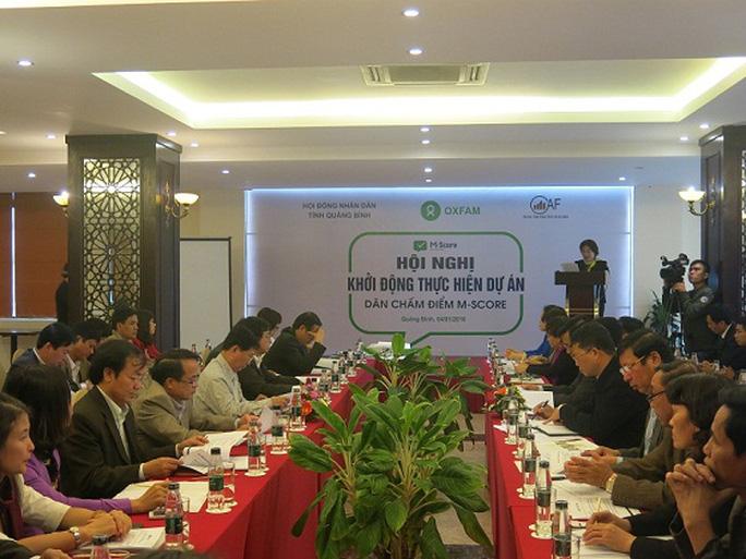 """Khởi động dự án """"Dân chấm điểm M-Score"""" tại Quảng Bình"""