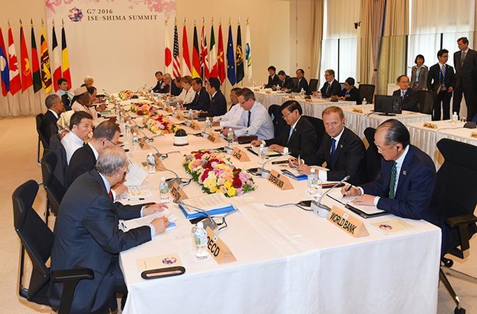 Quang cảnh Hội nghị Thượng đỉnh G7 mở rộng