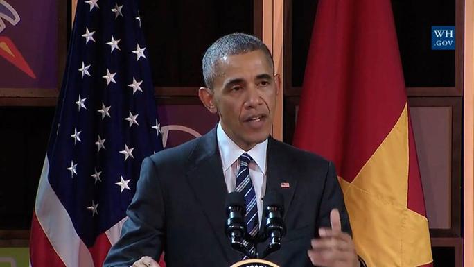 Ảnh cắt từ clip kênh YouTube của Nhà Trắng