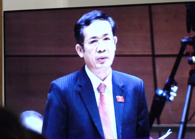 ĐBQH Trần Công Thuật phát biểu về vấn đề Formosa tại QH sáng 29-7 - Ảnh chụp qua màn hình