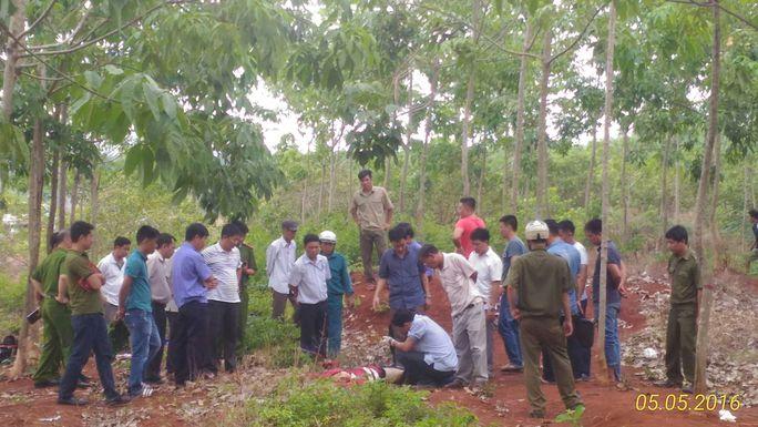 Thị thể nam sinh viên được phát hiện trong rừng cao su