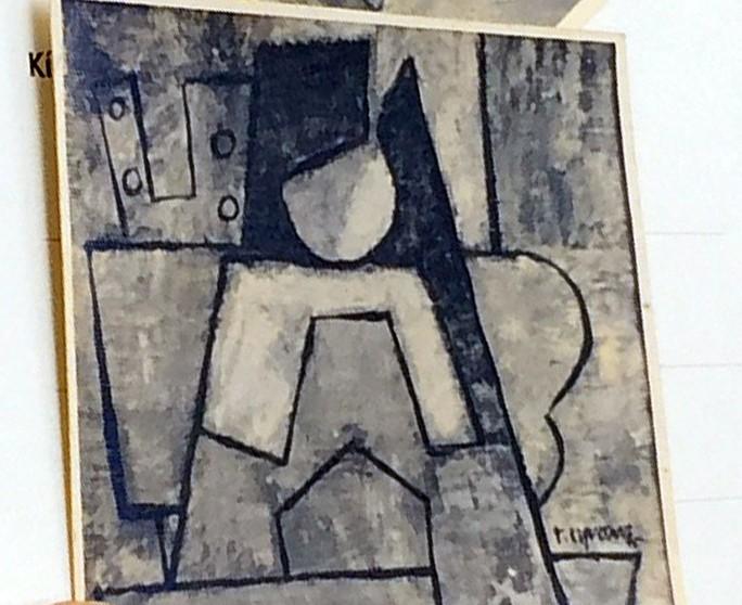 Ảnh chụp lại phác thảo bức Trừu tượng do họa sĩ Thành Chương cung cấp