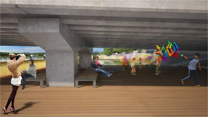 Phối cảnh dự án dưới chân cầu Phú Xuân