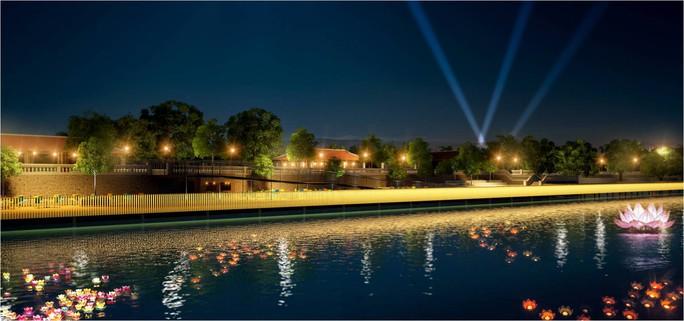 Phối cảnh góc đêm nhìn từ sông Hương