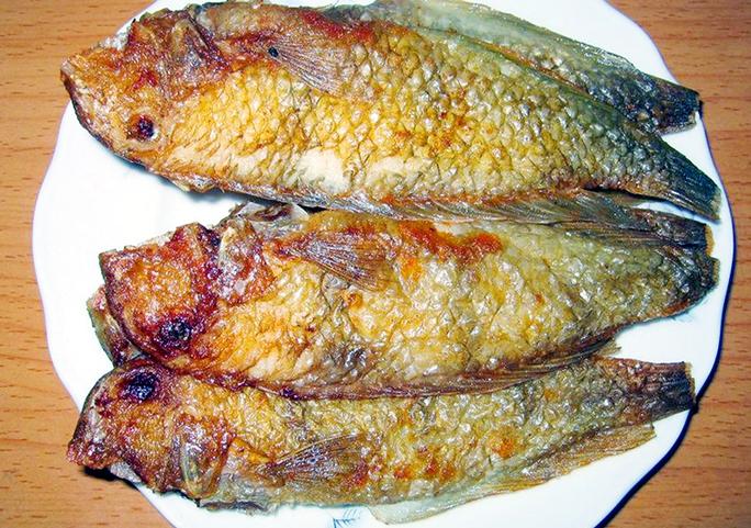 Cá mó rán, thịt rất ngon.
