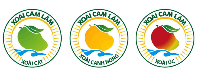 Ba loại xoài được Cục Sở hữu trí tuệ bảo hộ nhãn hiệu chứng nhận xoài Cam Lâm