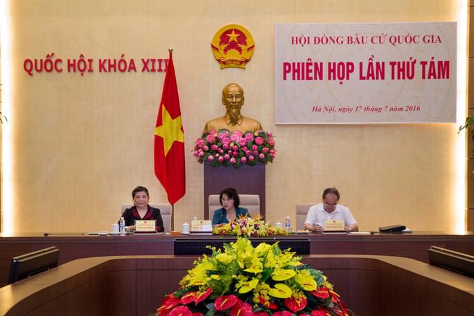 Chủ tịch QH, Chủ tịch Hội đồng bầu cử quốc gia Nguyễn Thị Kim Ngân chủ trì họp đột xuất phiên thứ tám HĐBCQ