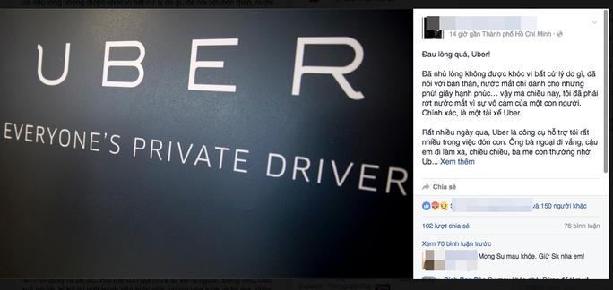 Câu chuyện sử dụng dịch vụ Uber bị tài xế ngược đãi được chị Q. đăng tải khiến nhiều người quan tâm, chia sẻ.