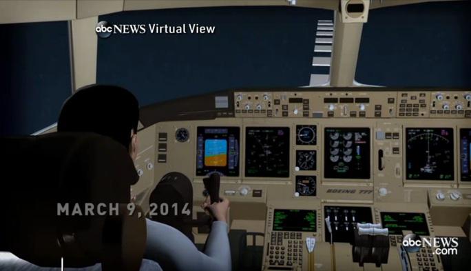 Ảnh minh họa: Hình ảnh tái hiện lộ trình MH370 của ABCNews