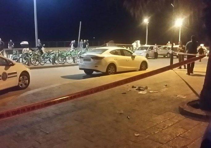 Hiện trường ở Jaffa bị phong tỏa. Ảnh: JPost
