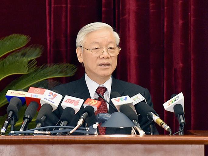 Tổng Bí thư Nguyễn Phú Trọng nhấn mạnh Hội nghị Trung ương 14 thời gian họp không dài, nhưng có ý nghĩa đặc biệt quan trọng - Ảnh: VGP