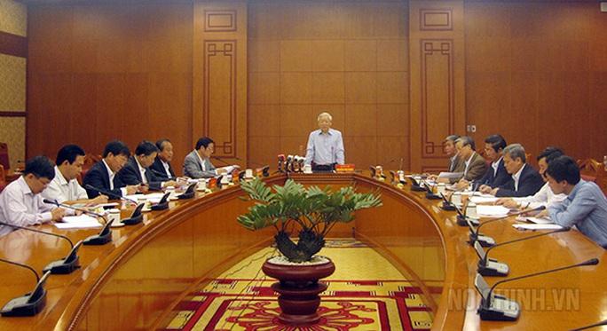 Tổng Bí thư Nguyễn Phú Trọng kết luận cuộc họp Thường trực Ban Chỉ đạo Trung ương về phòng, chống tham nhũng