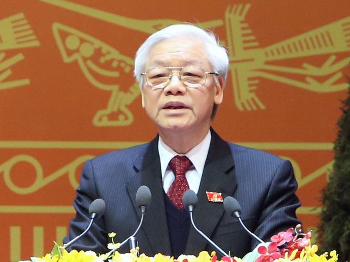 Tổng Bí thư Nguyễn Phú Trọng phát biểu bế mạc Đại hội XII