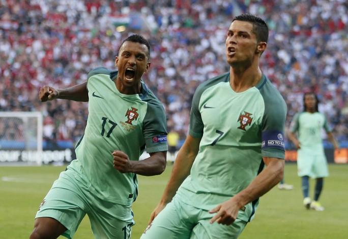 Sự đóng góp của Nani (trái) cho Bồ Đào Nha quan trọng không kém so với RonaldoẢnh: REUTERS
