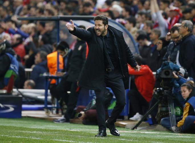 HLV Simeone chính là niềm cảm hứng lớn nhất đưa Atletico Madrid ít ngôi sao thành đội bóng đáng gờm Ảnh: REUTERS