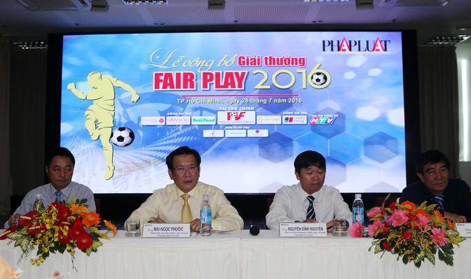 Lễ công bố giải thưởng Fair Play 2016 Ảnh: Quang Liêm
