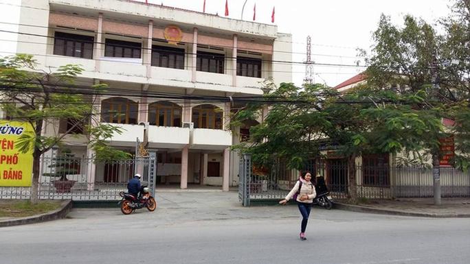 Trụ sở UBND huyện An Dương, TP Hải Phòng, nơi nhiều người trong gia đình ông Nguyễn Thế Sơn giữ các chức vụ quan trọng