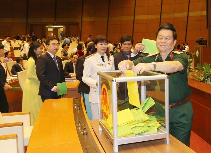 Đại biểu Quốc hội bỏ phiếu bầu các phó thủ tướng và các thành viên Chính phủẢnh: TTXVN