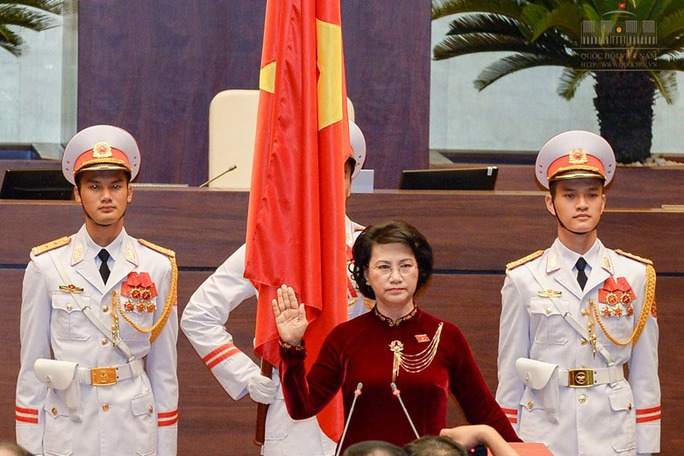 Bà Nguyễn Thị Kim Ngân tuyên thệ trước Quốc hộiẢnh: VĂN BÌNH