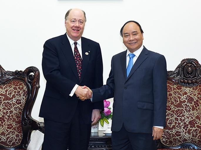 Thủ tướng Nguyễn Xuân Phúc tiếp ông Keith Williams, Chủ tịch Hội đồng quản trị Hội đồng Kinh doanh Mỹ-ASEAN