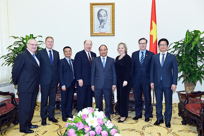 Thủ tướng Nguyễn Xuân Phúc cùng đoàn Hội đồng quản trị Hội đồng Kinh doanh Mỹ-ASEAN