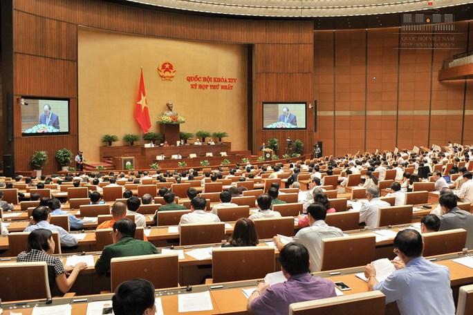 Thủ tướng Nguyễn Xuân Phúc trình QH phê chuẩn danh sách nhân sự Chính phủ khóa XIV - Ảnh: Quochoi.vn