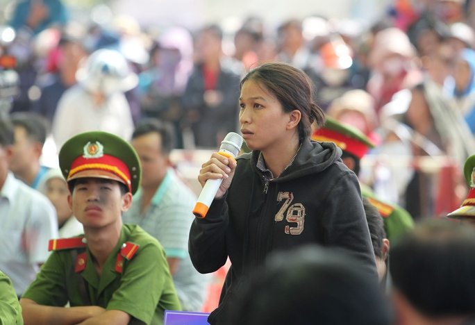 Bà Trần Thị Trinh, dì ruột của bị cáo Nguyễn Hải Dương trong phiên tòa sơ thẩm
