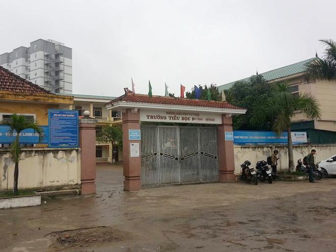 Trường tiểu học H.B, nơi thầy giáo C.V.D. công tác