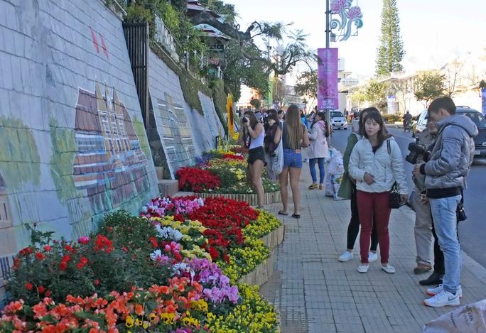 Du khách thưởng ngoạn các tác phẩm trong ngày kết thúc Festival Hoa Đà LạtẢnh: MINH HẢI