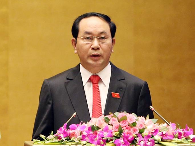 Chủ tịch nước Trần Đại Quang trình QH đề nghị miễn nhiệm chức danh Thủ tướng với ông Nguyễn Tấn Dũng