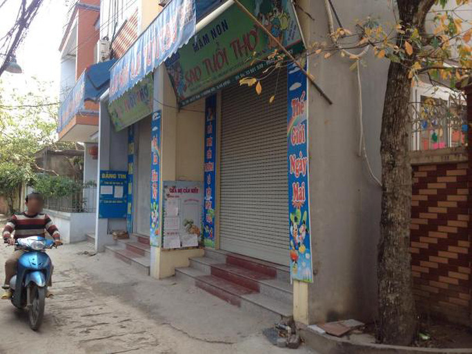 Trường mầm non Sao Tuổi Thơ đóng cửa sau cái chết của cháu L.V.T - Ảnh: Nguyễn Hưởng