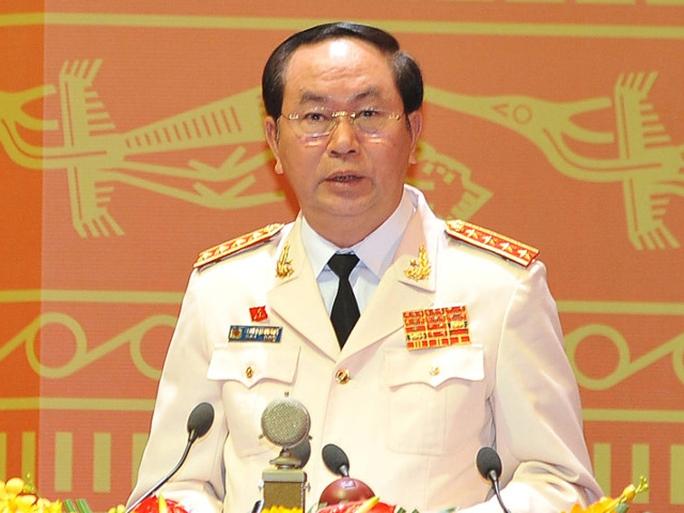 Đại tướng Trần Đại Quang, Ủy viên Bộ Chính trị, Bộ trưởng Bộ Công an, được đề cử bầu làm Chủ tịch nước