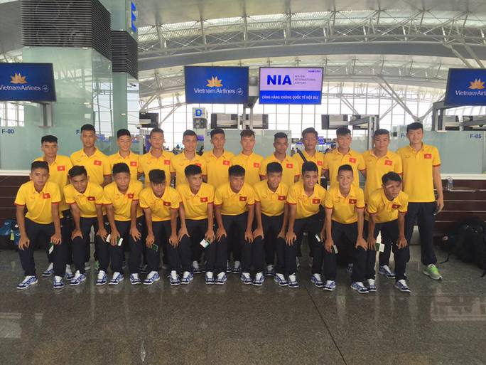 Đội tuyển U16 Việt Nam trước giờ lên đường dự giải U16 Đông Nam Á 2016