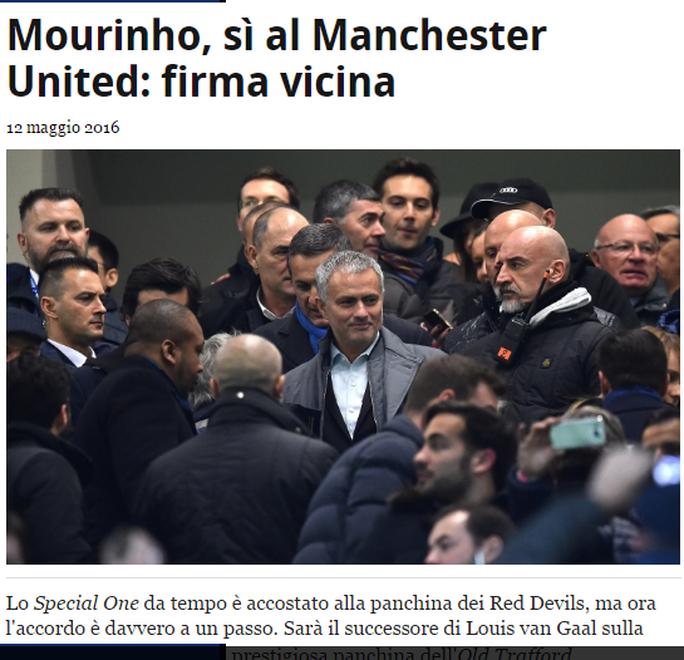 Thông tin trên Sky Sport tiếng Ý được các báo Anh dẫn lại
