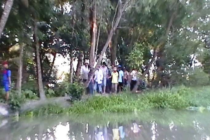 Một trường gà có địa bàn hiểm trở mà công an tỉnh Tiền Giang vừa triệt phá