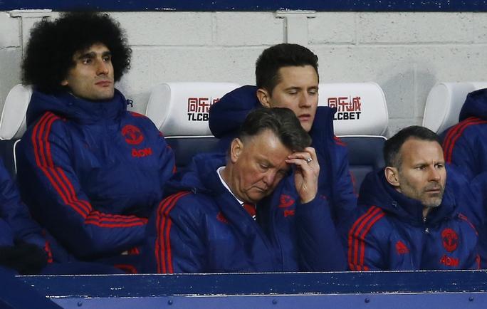 HLV Van Gaal thất vọng sau trận thua trên sân West Brom