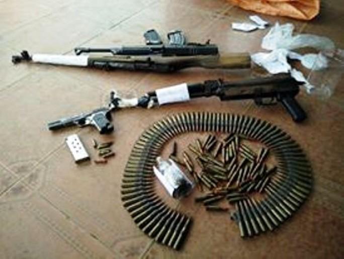 Số vũ khí mà Trương Ghi Ta giao nộp - ảnh Công an phường Nam Lý cung cấp