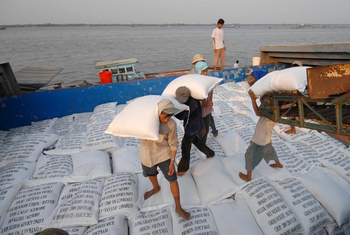 Xuất khẩu gạo ở ĐBSCL.Ảnh: Ngọc Trinh