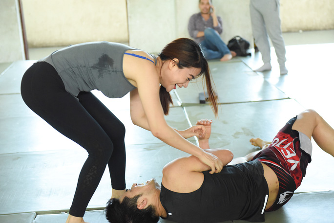 Trương Ngọc Ánh hăng say tập luyện võ thuật