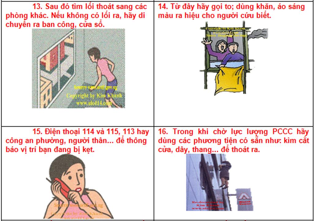 Từ vụ cháy chung cư Carina: 19 Kỹ năng thoát hiểm cần nhớ! - Ảnh 6.