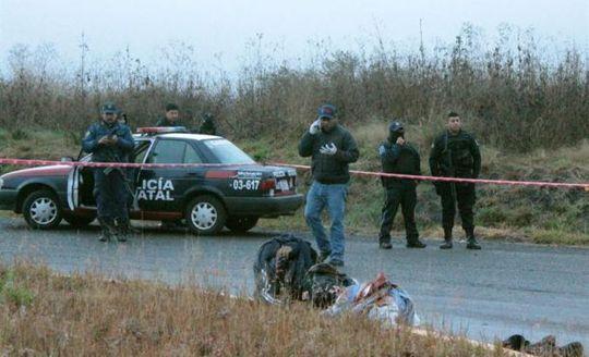Hiện trường vụ tìm thấy thi thể bị chặt đầu. Ảnh: EFE