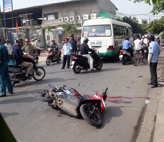 Hiện trường vụ tai nạn khiến nam thanh niên thiệt mạng