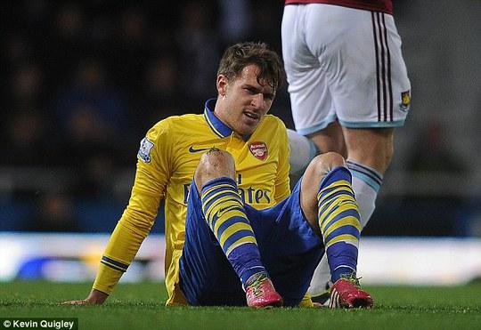 Ramsey chấn thương là một tổn thất không nhỏ cho Arsenal