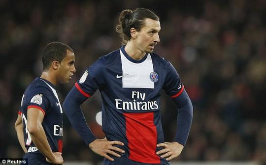 Ibrahimovic trong màu áo PSG