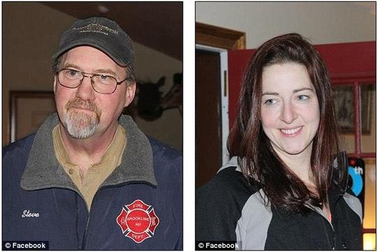 Ông Whitcomb bên con gái khi cô còn sống