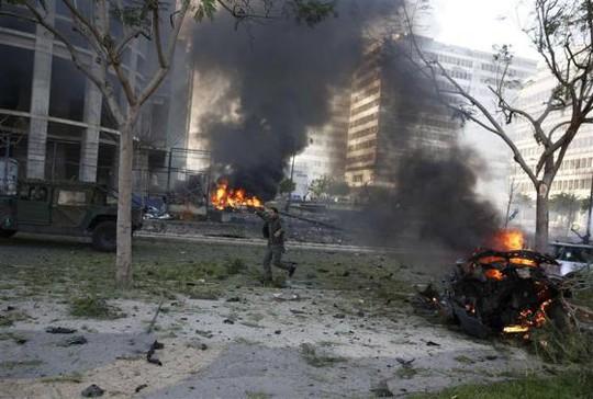 Hiện trường vụ đánh bom Ảnh: Reuters